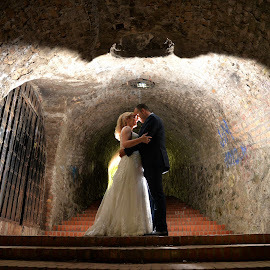 a tunnel of love by Sasa Rajic Wedding Photography - Wedding Bride & Groom ( nikon, love, wedding dress, novi sad, wedding photography, wedding photographer, wedding photos destination, wedding day, wedding, tunnel )