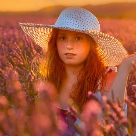 Lavender by Christoph Reiter - People Portraits of Women ( frankreich 2018, light, lavendel, girl, sun )