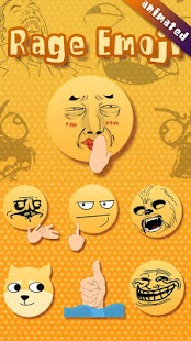 FREE-GO SMS RAGE EMOJI STICKER APK for Bluestacks
