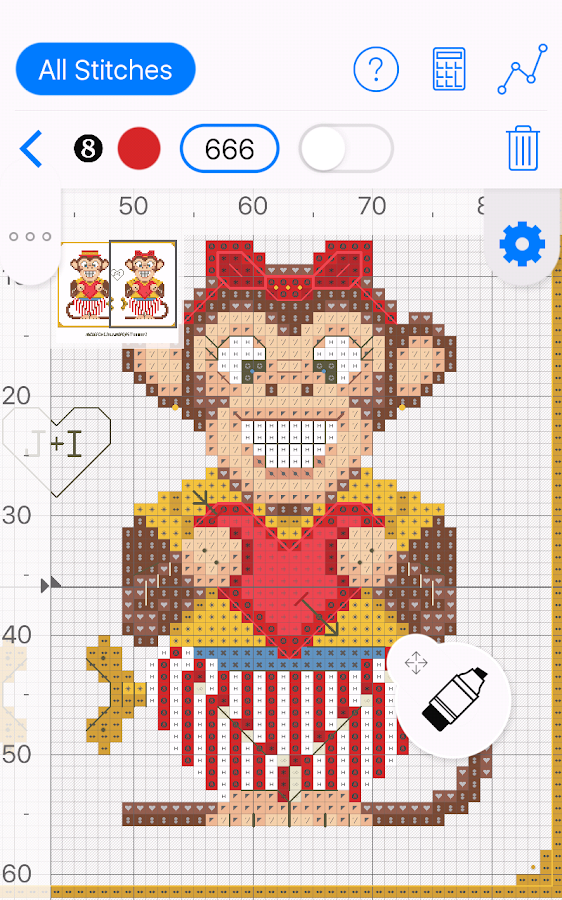 Cross Stitch Saga needlepoint Screenshot 0