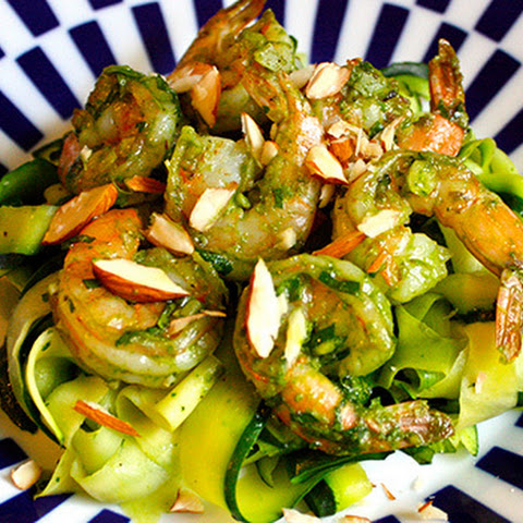 Garlic Basil Shrimp with Zucchini Noodles
