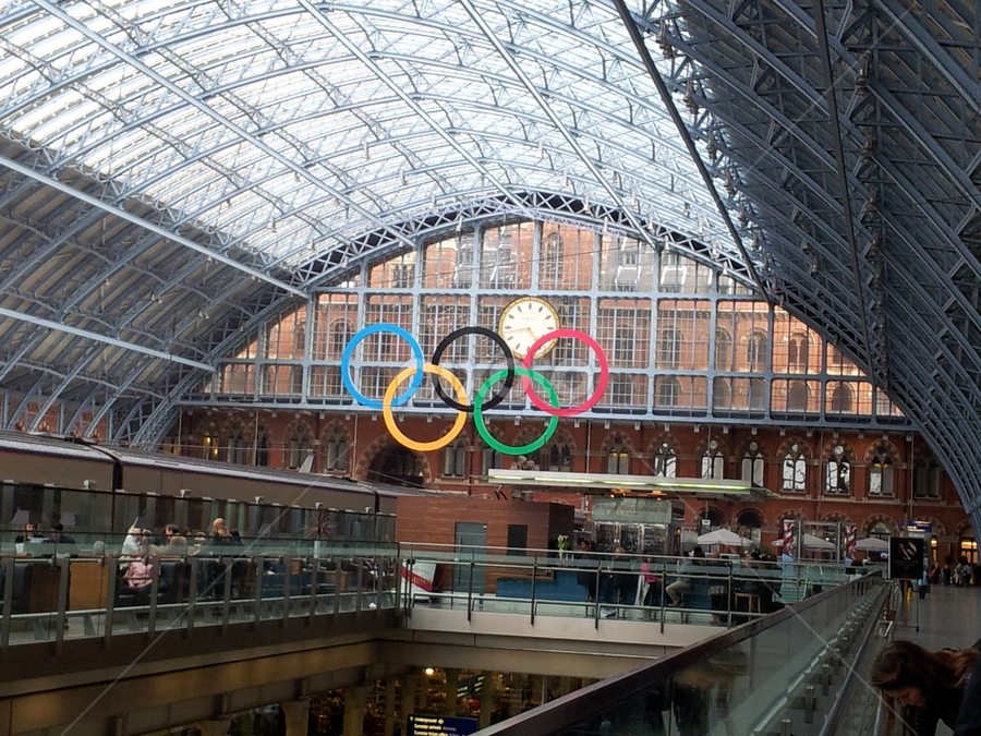 Olimpic circle in London by Deni Špiranec - Sports & Fitness Other Sports ( london, colors, train, circle, olimpic games )