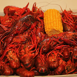 BOILED LOUISIANA CRAWFISH by Ron Olivier - Food & Drink Ingredients ( boiled louisiana crawfish )