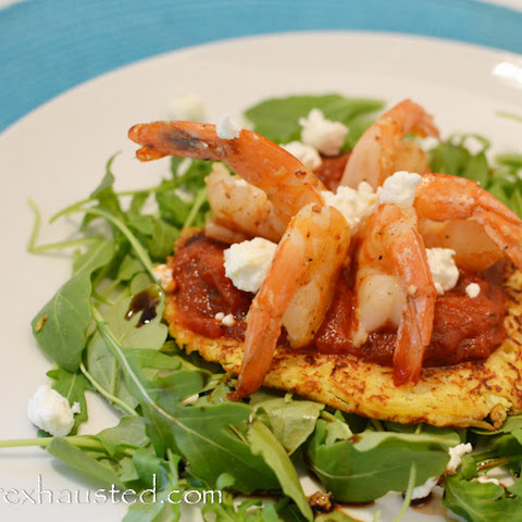Warm Shrimp Nest Salad
