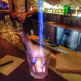 Flaming Sambuca by Roshan Lobo - Food & Drink Alcohol & Drinks