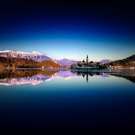 Bled by Zarko Piljak - Landscapes Waterscapes ( mountains, europe, slovenia, bled, longexposure )