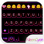 Cute Neon Emoji Keyboard Theme