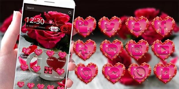 APK App Red Rose Theme Love Valentine for BB, BlackBerry
