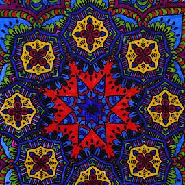 Mandela Art by Amada Gonzalez - Abstract Patterns ( abstract, patterns, mandela, digital art, art )