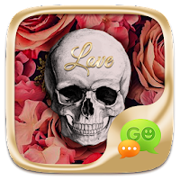 (FREE) GO SMS SKULL&ROSE THEME For PC (Windows And Mac)
