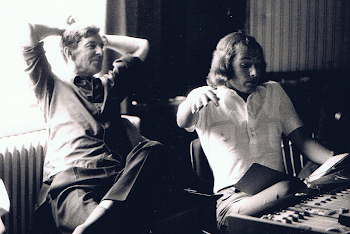 With Michael Tippett, during recordings of Piano Sonatas, Brent Town Hall, 1973 (1)