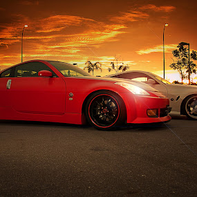 The Zuo by Rashid Mohamad - Transportation Automobiles ( sunset, strobing, 350 z, nissan, brunei )