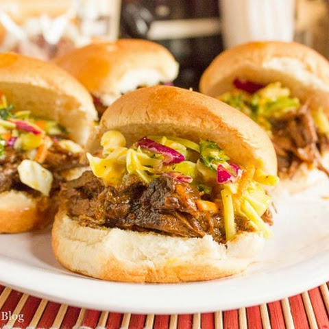 Campbell's Sweet Korean Beef BBQ Sliders with Asian Slaw