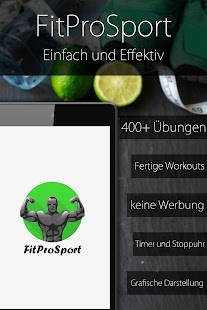 Fitnesstrainer FitProSport vollen Version Screenshot