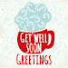 Get Well Soon Greetings - Add Text on Wishes card Icon