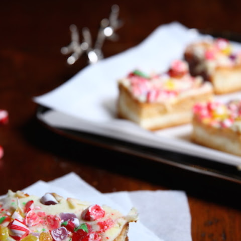 Candy Cane Cheesecake Bars, Sopapilla-Style