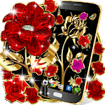 Gold rose live wallpaper Icon