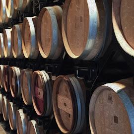 Wine Barrels by Justin Duff - Digital Art Things ( wine, barrels, artistic, oil art, painting, winery )