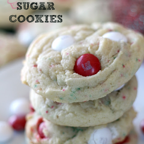 White Chocolate Peppermint M&M Sugar Cookies