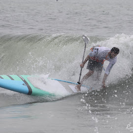 SUPing Into Shore by Robert Banach - Sports & Fitness Surfing ( ocean city watersports, surfing, ocean city events, ocean games, ocean city maryland )