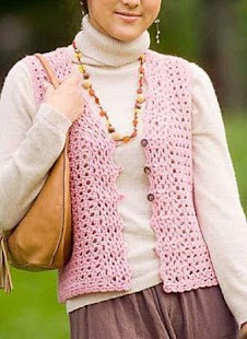 DIY Women Crochet Vest - screenshot