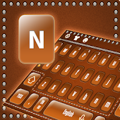 Brown Zipper keyboard APK for iPhone