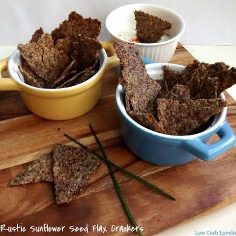 Rustic Sunflower Seed Flax Crackers
