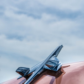 Ready for Takeoff by Alison Graham - Artistic Objects Other Objects ( car, hood ornament, sky, blue, automobile, pink )