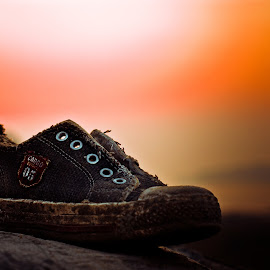 rugged by Pranjeet Sonowal - Artistic Objects Clothing & Accessories ( sand, fashion, style, sunset, shoe, torn )