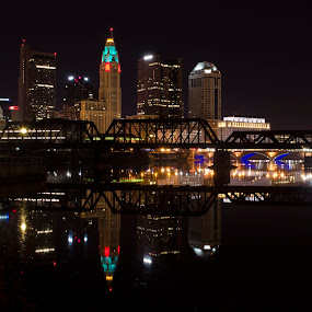 Columbus Ohio by Sean Miller - City,  Street & Park  Skylines