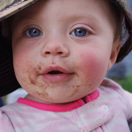 Chocolate Tastes Better On Your Face by Cheryl Korotky - Babies & Children Child Portraits