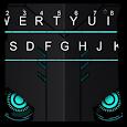 Modern Blue Tech Keyboard Theme