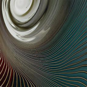 a half by Ag Adibudojo - Abstract Fine Art ( aquare )