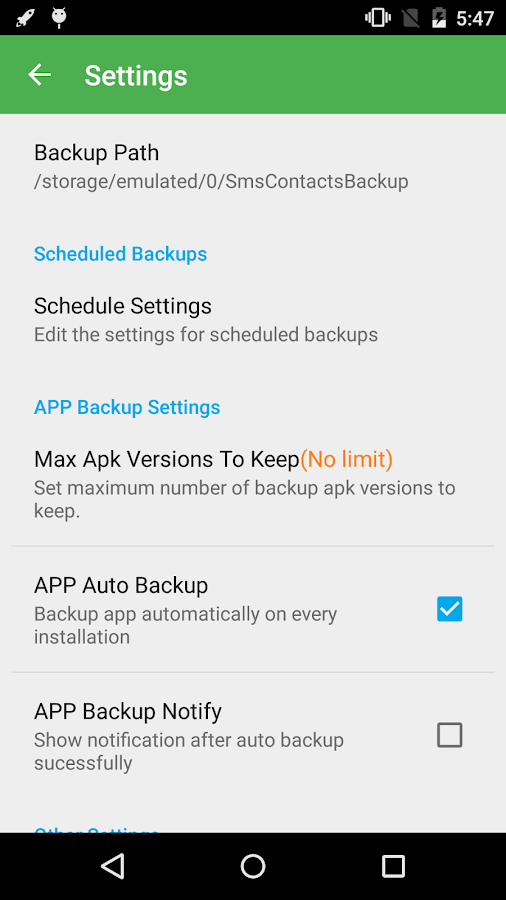 Super Backup Pro: SMS&Contacts Screenshot 2