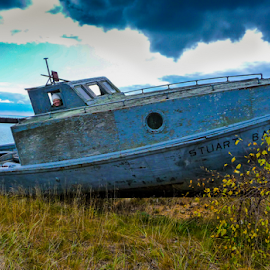 A Drift...   not by Sean Doran - Transportation Boats ( old, wooden, fish, fishing, beach, boat )