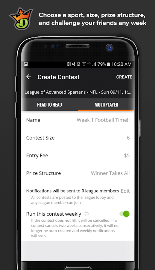 DraftKings Screenshot 6