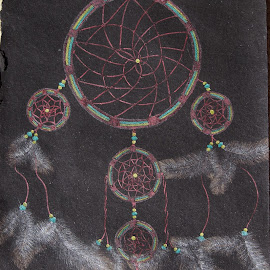 Dreamcatcher by Jo Soule - Drawing All Drawing ( dreamcatcher, dream, feathers )