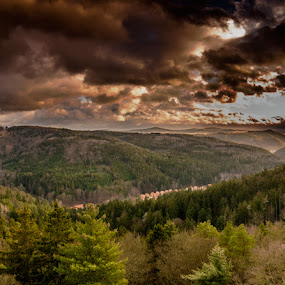 Karlovy Vary Czech Republic by Artur Jakutsevich - Landscapes Weather ( karlovy vary, sky, nature, sunset, czech republic, mood, tragedy, forest, beauty, storm, landscape, panorama )
