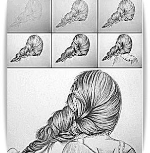 How To Draw Hair - screenshot