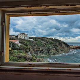 window on tuscany sea by Gianluca Presto - Buildings & Architecture Architectural Detail ( clouds, home, hill, tuscany, window, cloudy, sea, architecture, house, italy, abandoned )