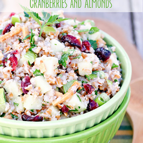 Bulgur Apple Salad with Cranberries and Almonds