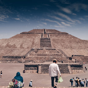 Teotihuacan by Valentina Cantera - Buildings & Architecture Places of Worship ( df, stairs, bag, rung, building, cloud, tread, peg, latin america, hat, antique, sunny, patrimony, sky, phase, sightseeing, ramp, archeology, aztec, heritage, brown, ancient, steps, maya, voyage, sunday, rock formation, latino, promenade, sky blue, tenochitlan, outside, federal district, azteca, sellers, lanscape, stair, legacy, buyers, tourism, turism, formation, monument, stagger, sun, archaic, tourist, rock, priamid, terrace, staircase, architecture, stepped, art, vitage, mexico, ladder, tourins, stage, mexico df, culture, pyramid, step, stairway, teotihuacan, travel, landscape )