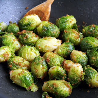 Brussels Sprouts with Browned Butter Breadcrumb Coating