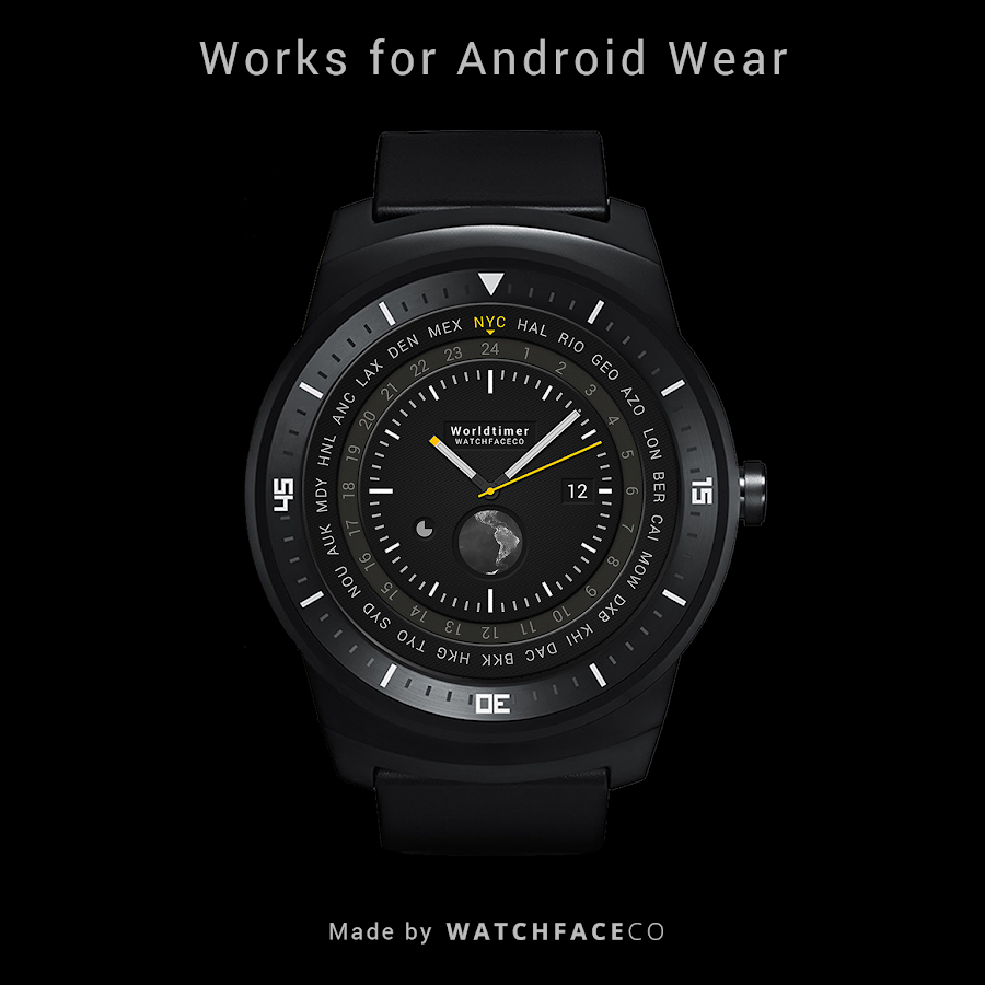 World Timer Watch Face Screenshot 6