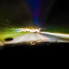 Drive home by Jim Bob - Abstract Light Painting ( flare, light, night, long exposure, drive )