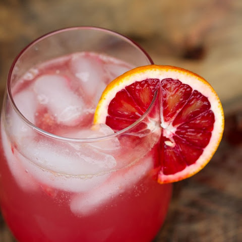 Blood Orange Tequila Drink with Lime