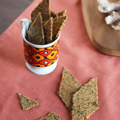 Rosemary, Parmesan and Black Pepper Whole Grain Crackers