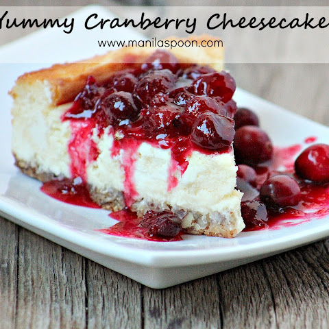 Yummy Cranberry Cheesecake
