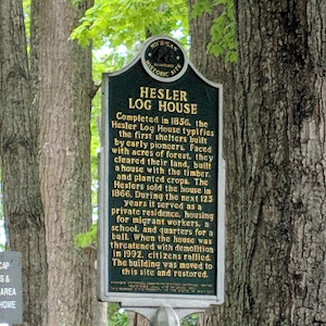 Completed in 1856, the Hesler Log House typifies the first shelters built by early pioneers. Faced with acres of forest, they cleared their land, built a house with the timber, and planted crops. The ...
