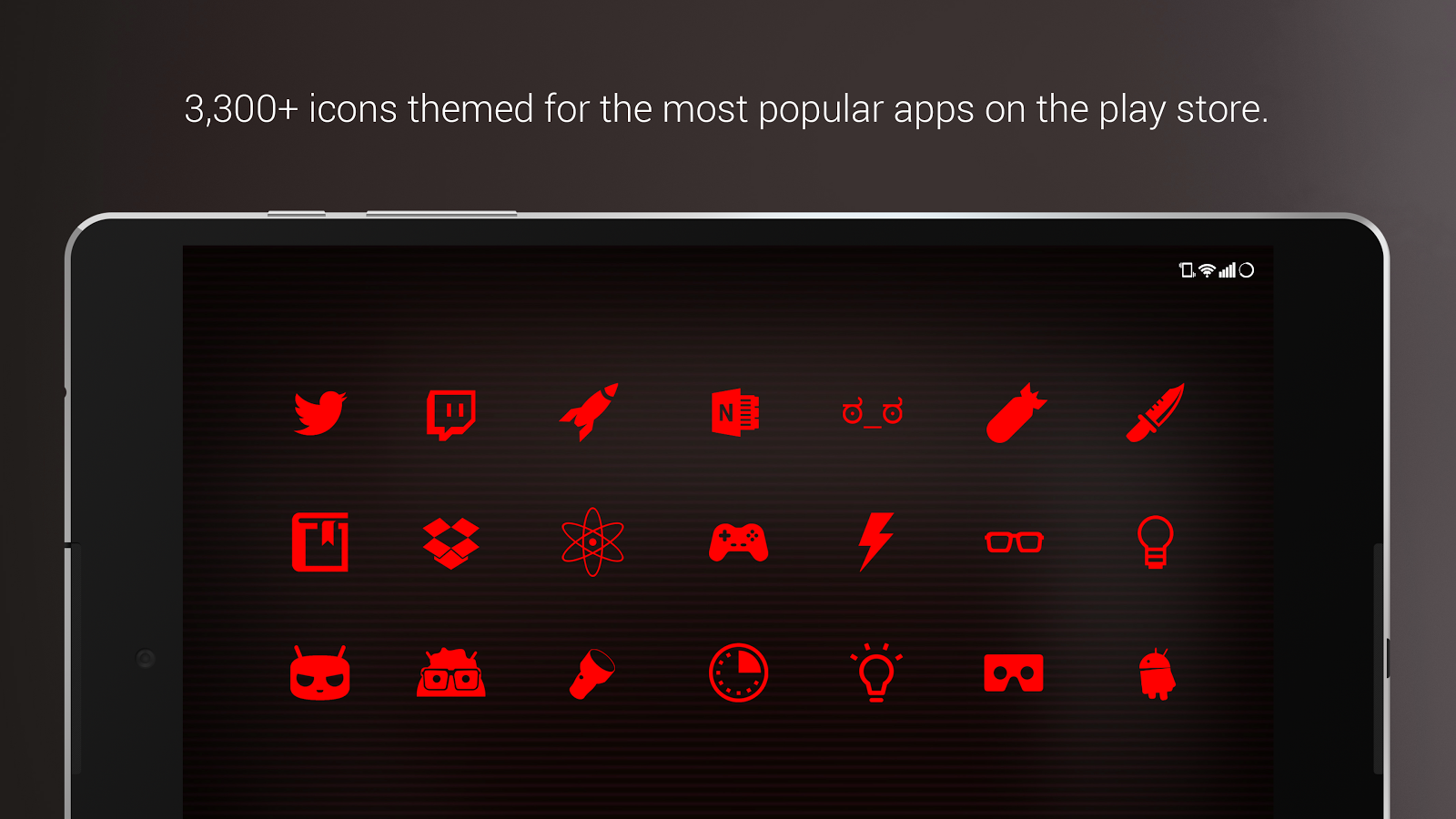 PipTec Red Icons & Live Wall Screenshot 11